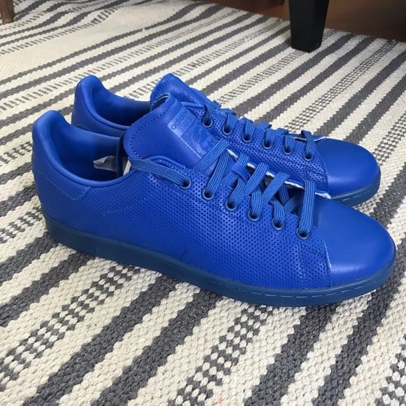 Lp728 | adidas Stan Smith Adicolor Schuhe weiß blau
